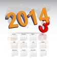 New year 2014 calendar vector