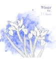 Background with watercolors and flowers-03 vector