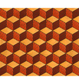 Aged drawing styled cubes pattern vector