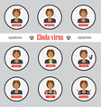 Ebola symptoms and signs infographics vector