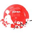 Hand drawn japanese cherry vector