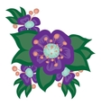 Beautiful bright bouquet of flowers vector