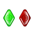 Red circle icon on white background vector
