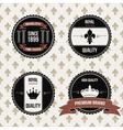 Vintage royal labels vector