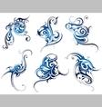 Water swirls vector