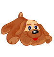 Soft toy dog vector