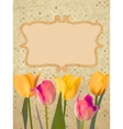 Paper with beautiful tulips with polka dot eps 10 vector