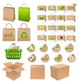 Set of ecological container vector