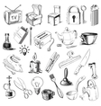 Household home objects collection vector