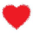 Red hand drawn grunge heart logo vector
