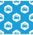 Car hexagon pattern vector