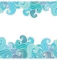 Hand drawn wavy background vector