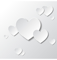 Paper white hearts vector