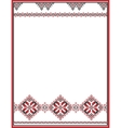Embroidery abstract template frame for your vector