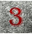 Number three icon symbol flat modern web design vector