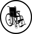 Invalid chair icon vector