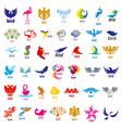 Biggest collection of logos birds vector