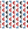 Euro symbol seamless pattern vector