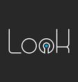 Lock lettering logo idea mockup security icon vector