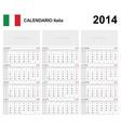 Calendar 2014 italy type 19b vector