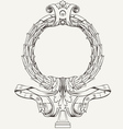Ornate wreath frame vector