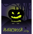 Happy halloween card with pumpkin vector
