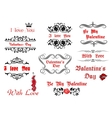 Calligraphic elements and scripts for valentines vector