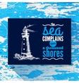 Travel vintage background sea nautical design vector
