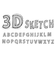 Sketch alphabet vector