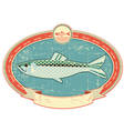 Fish label background vector