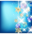 Beautiful blue christmas background vector