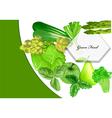 Green food vector