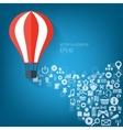 Flat air balloon web icon web application icons vector