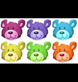 Cute bear heads vector