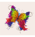 Butterfly made of floral vector