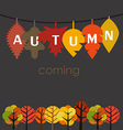 Autumn is coming concept vector