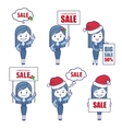 Business characters girls for holiday sale banner vector