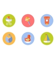 Baby children icons set vector