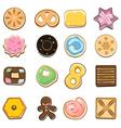 Sweet doodle cookies vector