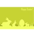 Easter eggs bunny green background v vector