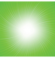 Green rays background vector