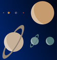 Real scale planets vector
