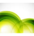 Green eco wave abstract background vector