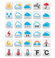 Weather forecast colorful buttons set vector