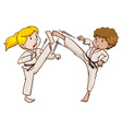 Two martial arts experts vector