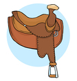 Horse saddle vector