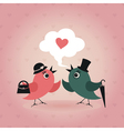 Bird of love vector