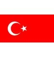 Flag of turkey vector