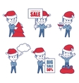 Business characters boys for holiday sale banner vector