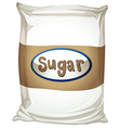 A packet of sugar vector